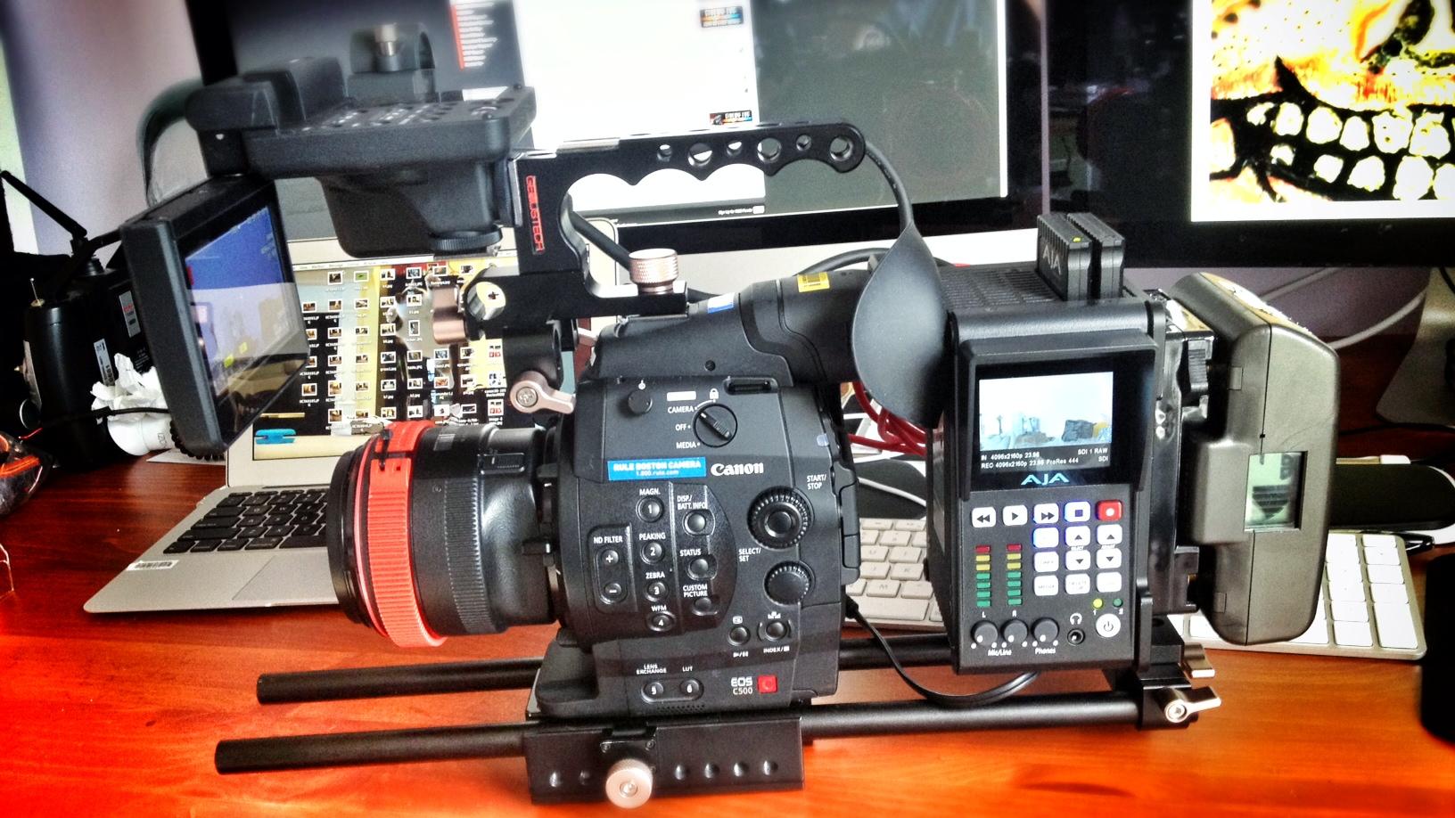 Canon C500 With Ki Pro Quad Wide Open Camera