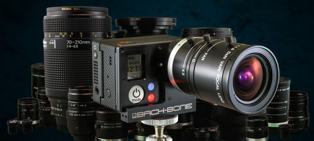 Back Bone Cine Mod GoPro Hero 3 Nikon Lens Mount Adapter